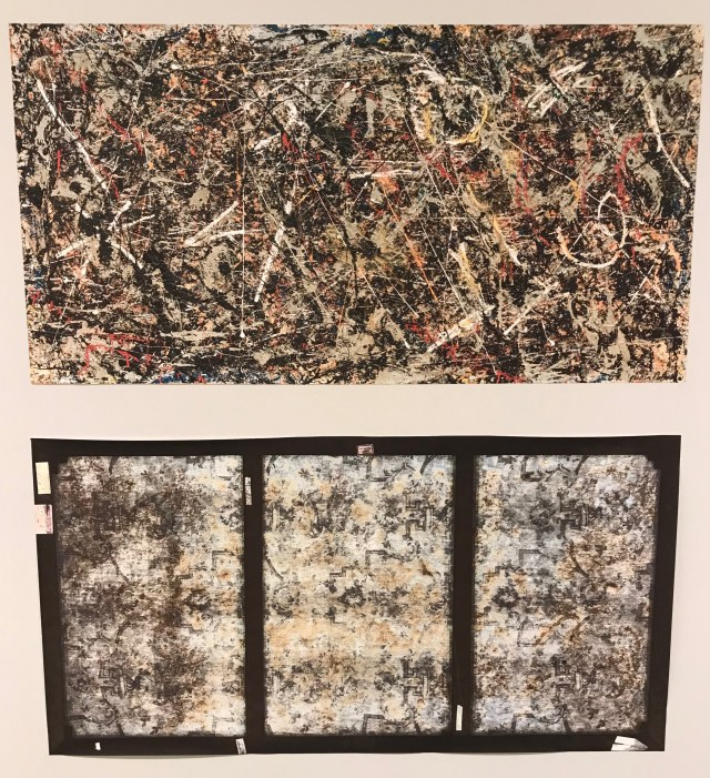 Jackson Pollock's Alchemy on display at the Sackler Center for Education at the Guggenheim Museum. (DCNF/Ethan Barton)
