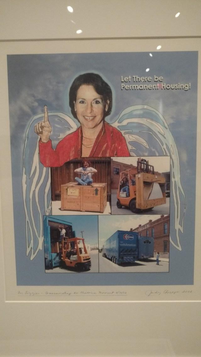 A print created as a commemorative gift for Elizabeth Sackler. (DCNF/Steve Birr)