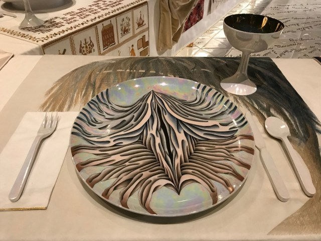 A place setting at The Dinner Party Exhibit at the Elizabeth A. Sackler Center for Feminist Art at the Brooklyn Museum in New York City. (DCNF/Ethan Barton)