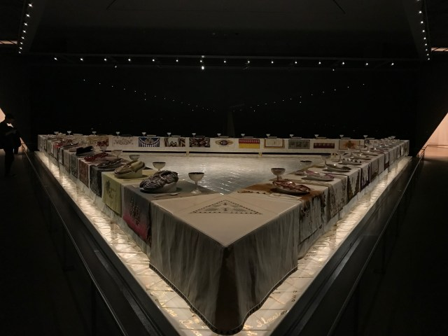 The Dinner Party, an exhibition celebrating feminist icons at the Elizabeth A. Sackler Center in the Brooklyn Museum in New York City. (DCNF/Ethan Barton)