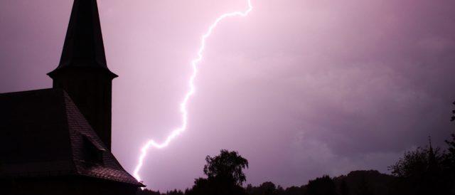 Lightning Strikes A Church (Shutterstock/ Viktor Wink)  Lightning Kills 16 In Rwandan Church