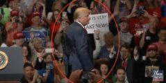 Man Holds Up A Sign That Says 'CNN Is Fake News' For Trump — His Reaction Makes Crowd Go Wild