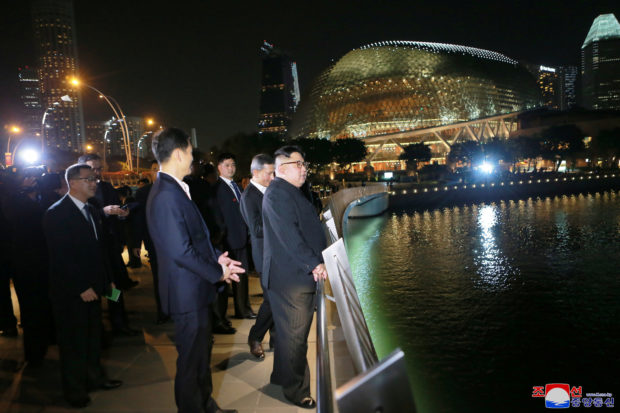 North Korea's leader Kim Jong Un visits Singapore in this picture released on June 11, 2018 by North Korea's Korean Central News Agency. KCNA via REUTERS