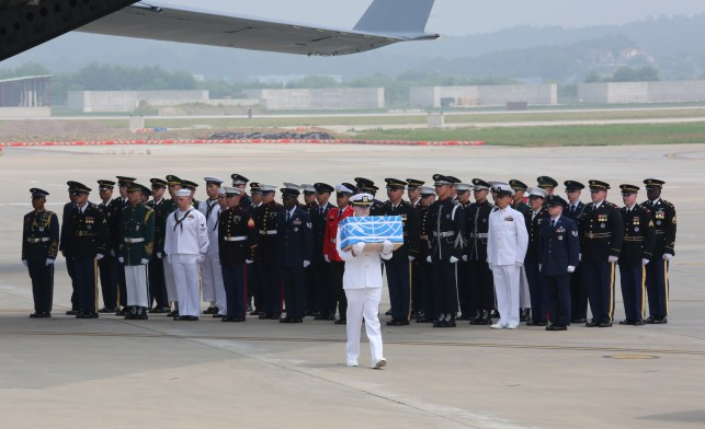 Why Are The American Remains Returning From The Korean War Draped In United Nations Flag?