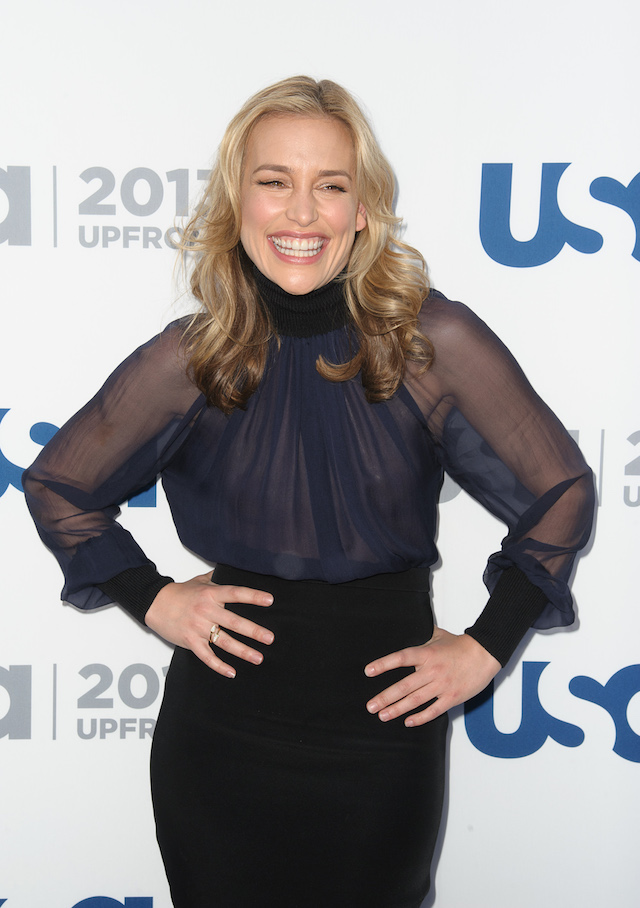 Piper Perabo attends USA Network 2013 Upfront Event at Pier 36 on May 16, 2013 in New York City. (Photo by Dave Kotinsky/Getty Images)