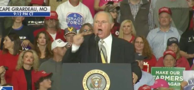 Rush Limbaugh Performed in the Trump Rally - & # 39; Hillary Clinton Committed Elections & # 39; [Screenshot/FOX News]
