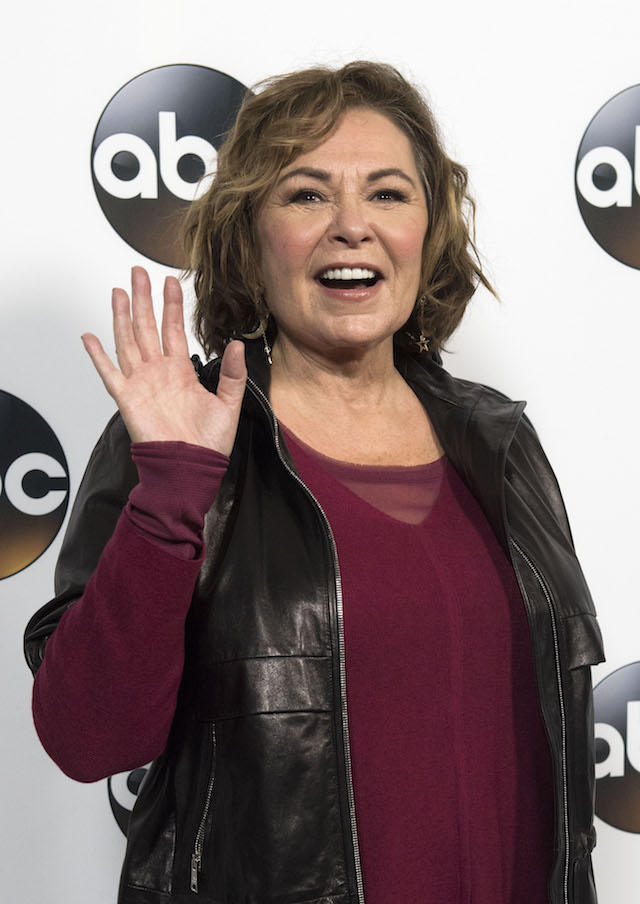 Actress Roseanne Barr attends the Disney ABC Television TCA Winter Press Tour on January 8, 2018, in Pasadena, California. (Photo credit: VALERIE MACON/AFP/Getty Images)