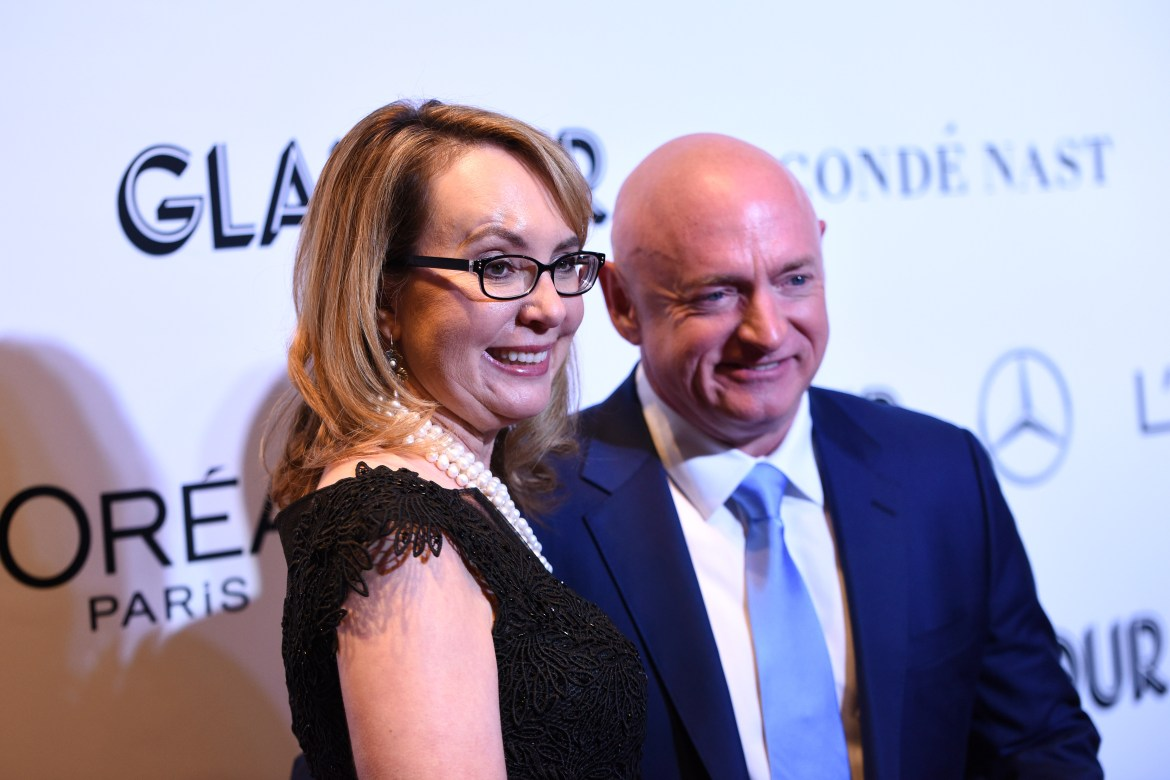 Gabrielle Giffords and Mark Kelly attend the 2018 Glamour Women Of The Year Awards: Women Rise on November 12, 2018 in New York City. (Photo by Bryan Bedder/Getty Images for Glamour)