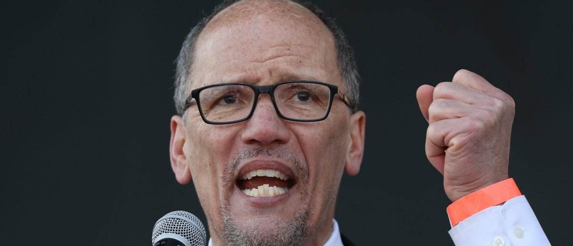 MEMPHIS, TN - APRIL 04: Tom Perez, Chairman of the Democratic National Committee, speaks as people gather during an event to mark the 50th anniversary of Dr. Martin Luther King Jr.'s assassination April 4, 2018 in Memphis, Tennessee. The city is commemorating King on the anniversary of his assassination that took place on April 4, 1968 at the Lorraine Motel. (Photo by Joe Raedle/Getty Images)