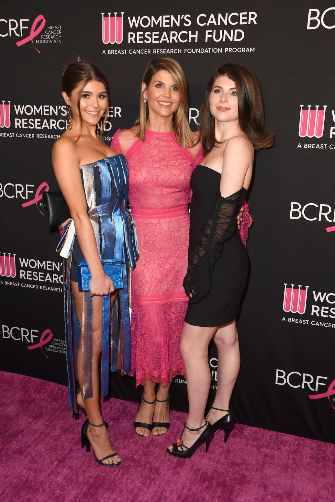 Olivia Jade Giannulli, Lori Loughlin and Isabella Rose Giannulli attend The Women's Cancer Research Fund's An Unforgettable Evening Benefit Gala at the Beverly Wilshire Four Seasons Hotel on February 28, 2019 in Beverly Hills, California. (Photo by Frazer Harrison/Getty Images)