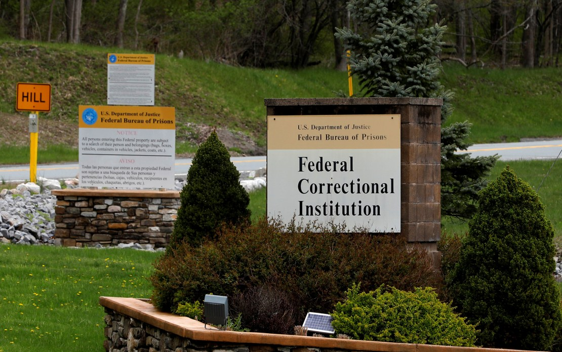 The entrance to the Federal Correctional Institution, Otisville, New York