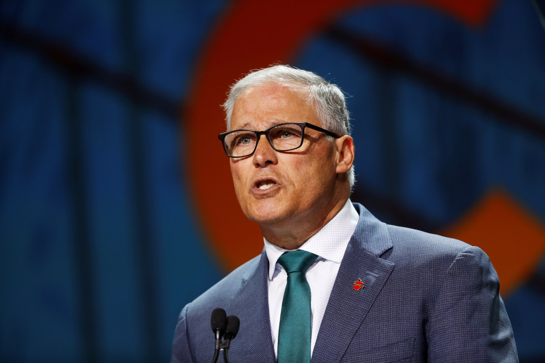 Democratic presidential candidate and Washington State Governor Jay Inslee speaks during the California Democratic Convention in San Francisco, California