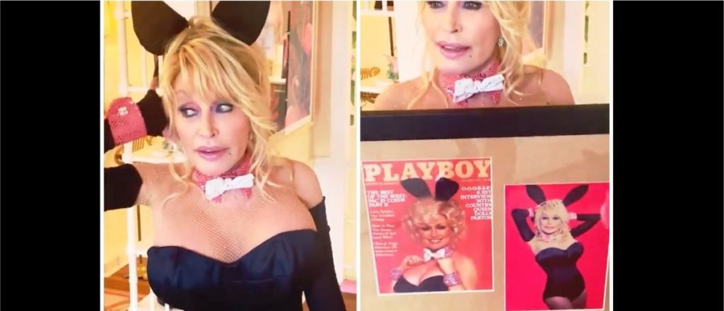 Dolly Parton Dresses As A Playboy Bunny For Her Husband's Birthday, Recreates Famous Photo Shoot