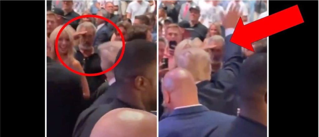 Mel Gibson Spots Donald Trump At Conor McGregor's Fight. What He Does Next Will Have Fans Going Crazy