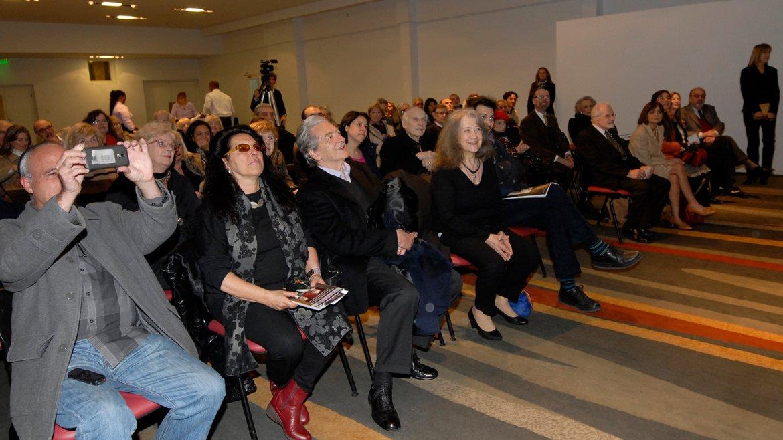 Argerich emocionada en la primera fila del auditorio