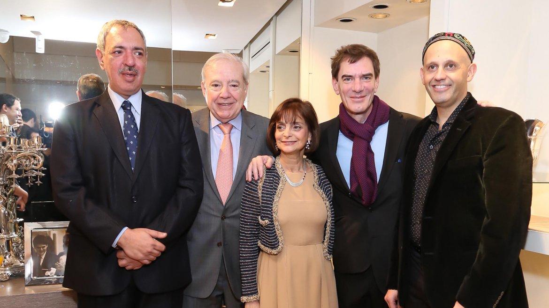 Claudia Stad junto aOmar Abboud, Jorge Enríquez, Darío Lopérfido y el rabino Sergio Bergman