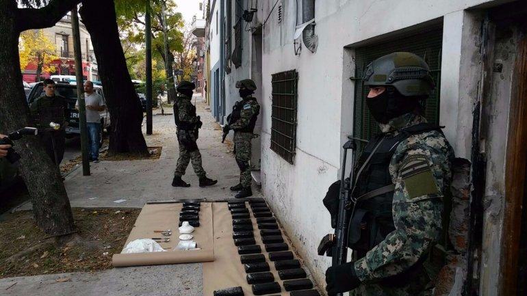 El operativo donde se encontró la cocaína