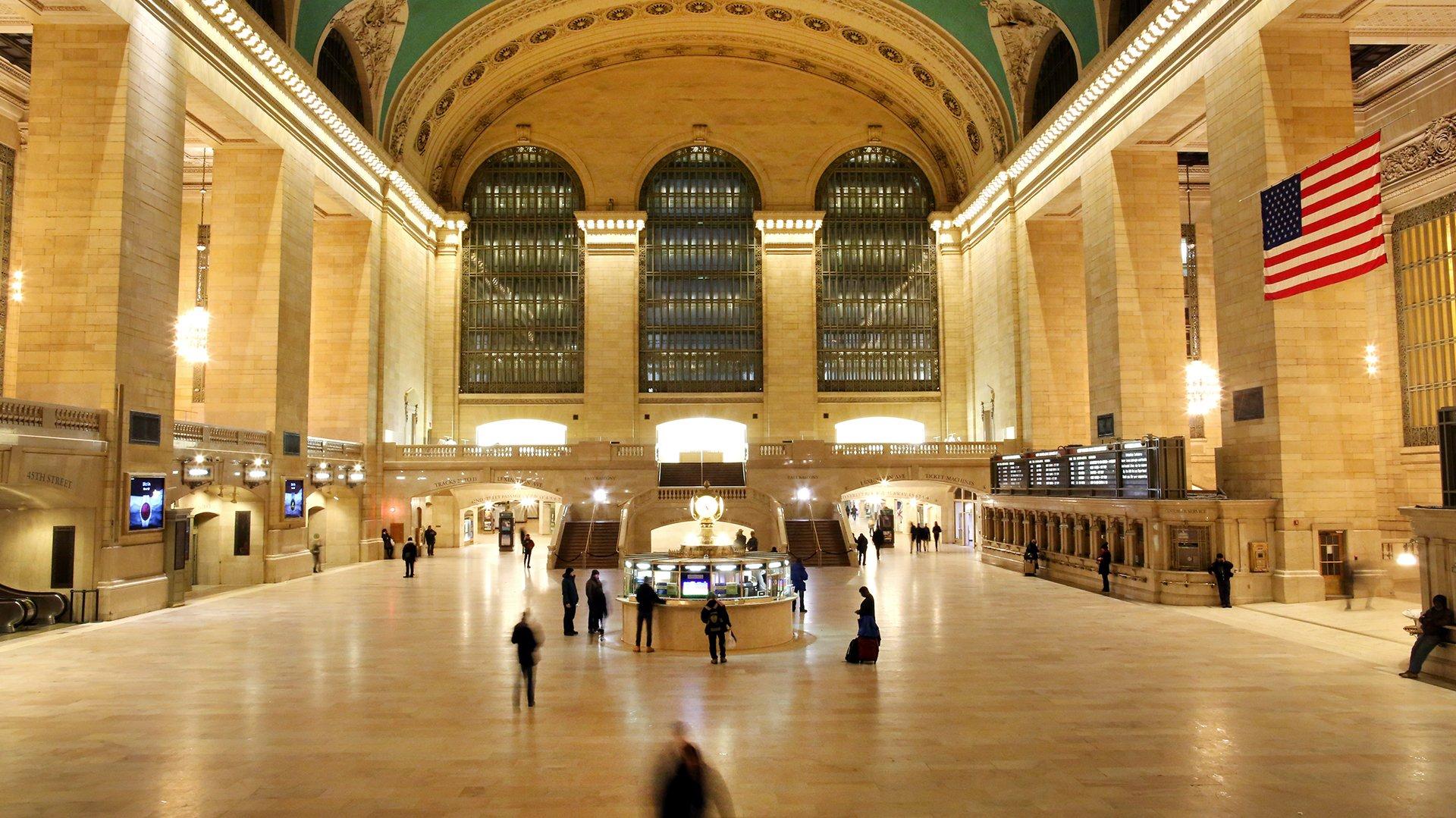 La estación Grand Central de Nueva York se encuentra casi desierta