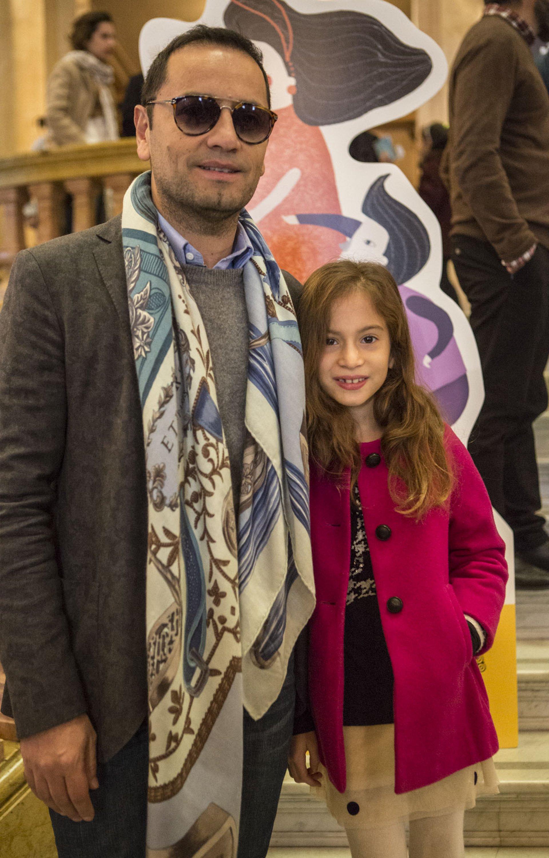 Fabián Medina Flores y su sobrina Allegra