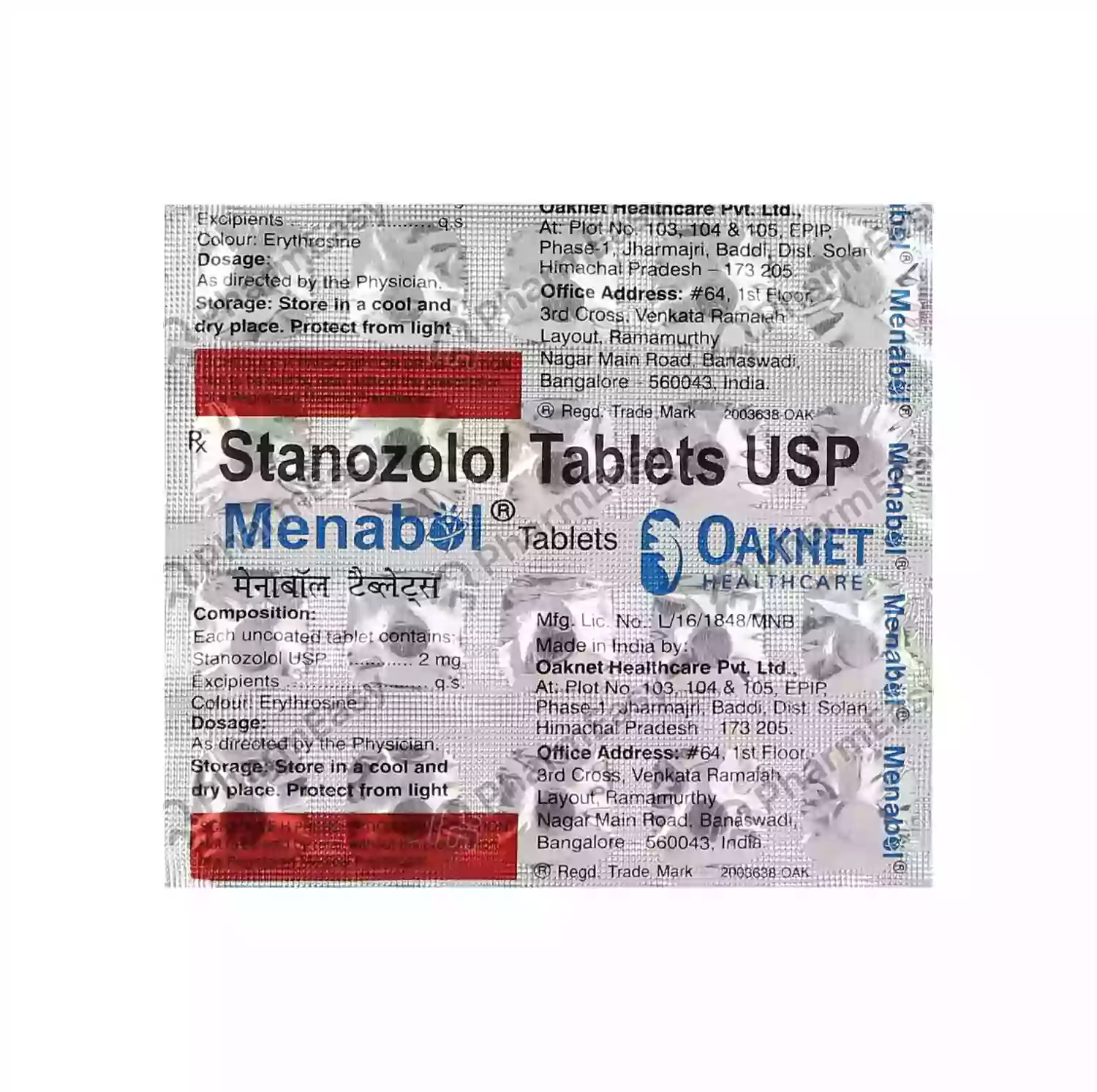 Buy Menabol 2mg Strip Of 20 Tablets Online at Flat 18% OFF ...