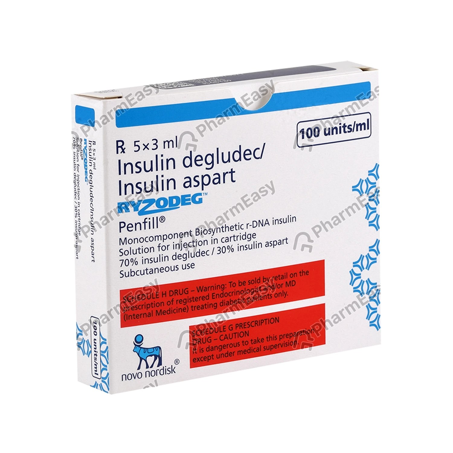 Ryzodeg Penfill 100iu Injection 3ml - Uses Side Effects ...