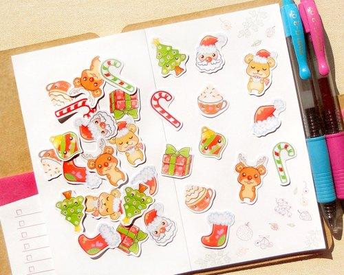 聖誕貼紙 - 手帳貼紙系列30入 - 聖誕節快樂 Merry Christmas Stickers - BeagleCakes 插畫工作室   Pinkoi