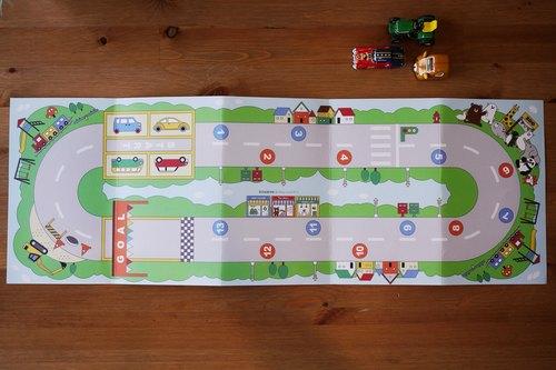 馬路街景著色遊戲雙面海報 - 寶包小島 Baby island   Pinkoi