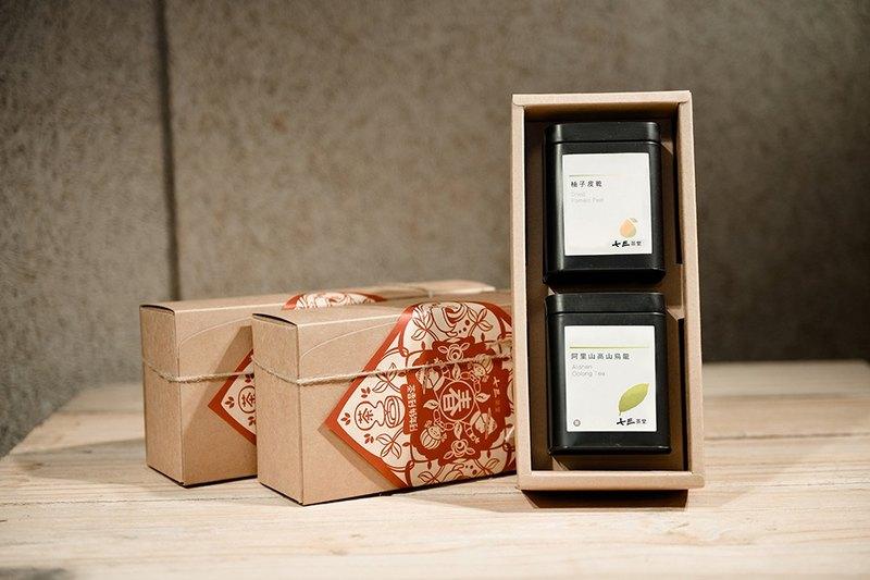 【茶包+果乾禮盒】 阿里山高山烏龍/茶包+臺南柚子皮乾60g - 七三茶堂 7teahouse | Pinkoi