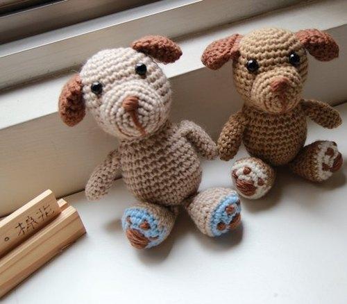 【布。棉花】獨家毛線娃娃. 狗狗造型毛線玩偶 - 布。棉花 | Pinkoi