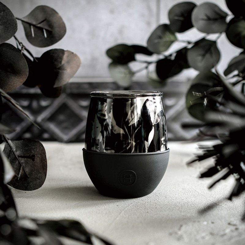 美國HYDY雙層隨行保溫杯 | 油墨黑-黑花 (8oz/240ml) - 設計館 HYDY Bottle (授權總代理) - 保溫瓶,保溫杯 | Pinkoi