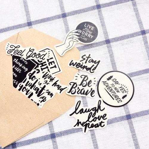 英文日常鼓勵系列/10入透明貼紙包 - LetterWordshop | Pinkoi