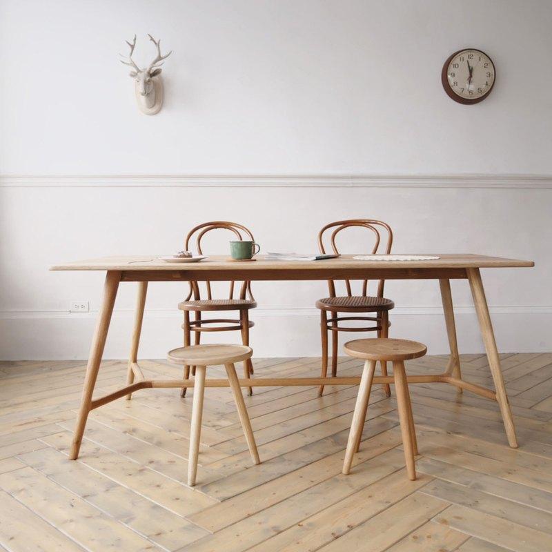 oak kitchen tables appliance store 大家來喟咖 放腳 手工橡木餐桌 180x80 尺寸可客製 設計師handi 尺寸