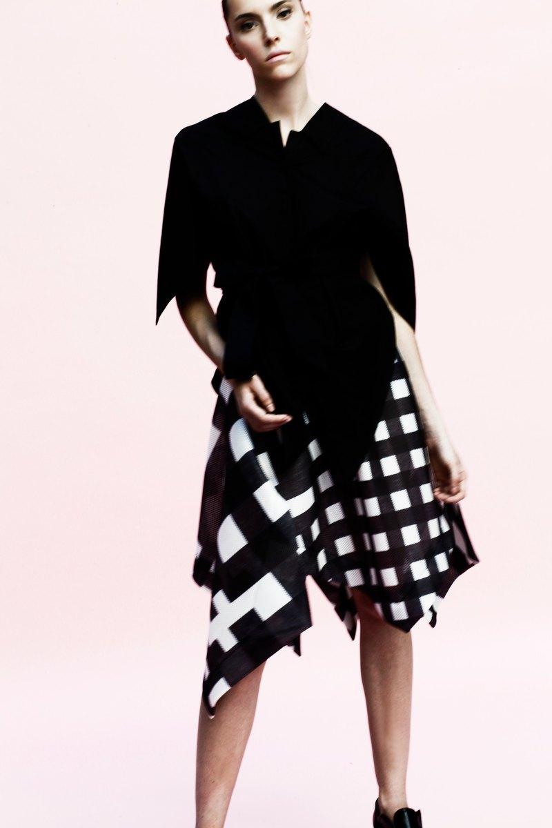 孔雀裙: 格紋: 義大利製: 一片式剪裁 - 設計館 YOJIRO KAKE 掛 洋二郎 - 裙子 | Pinkoi