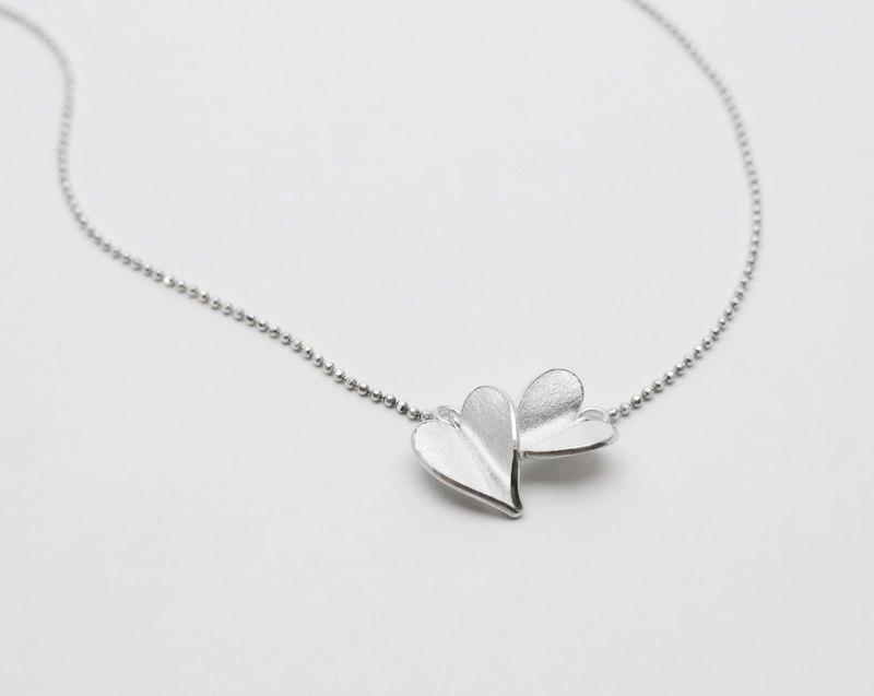 愛心系列 |心花朵朵純銀鎖骨鍊 | Silver‧Handmade | 基本款 - 設計館 tour à tour 首飾創作實驗室 - 鎖骨鍊 | Pinkoi