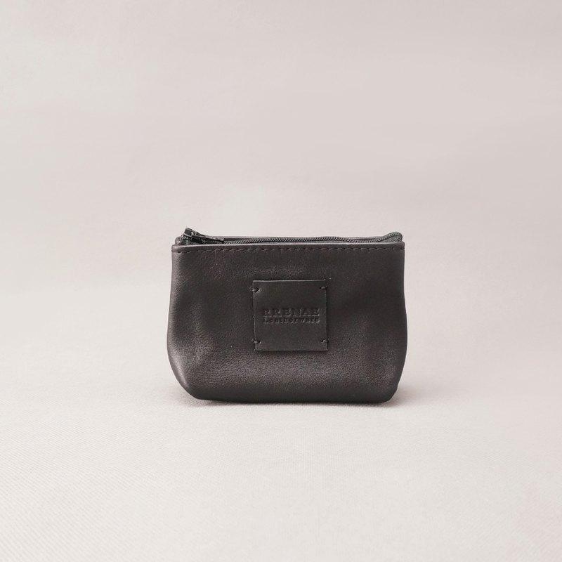 Zipper 零錢包.黑色 / 皮革 / RRENAE Leatherware - RRENAE Leatherware | Pinkoi