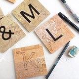 度身訂造 - 婚禮木製拼詞遊戲英文字母裝飾 - Share Artually | Pinkoi