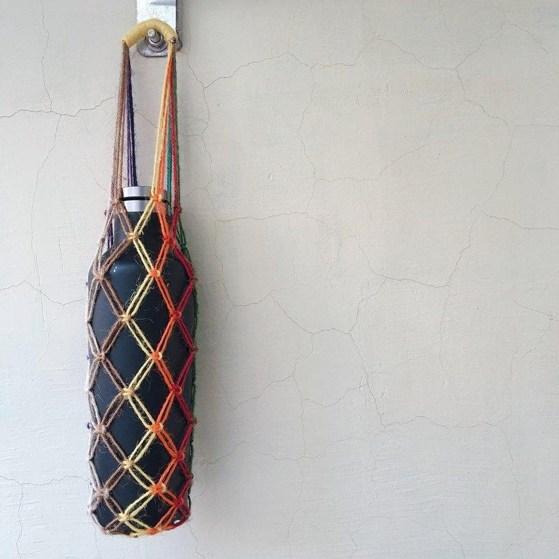 【好花】手編環保飲料提袋 編織提袋 環保杯袋(一入) - 設計館 好花 - 手提包.手提袋   Pinkoi