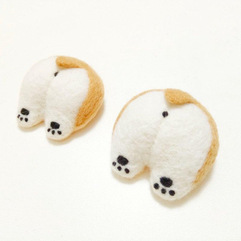 柯基屁屁 -羊毛氈 (別針或磁鐵任選) - Radishcookie羊毛氈小舖   Pinkoi