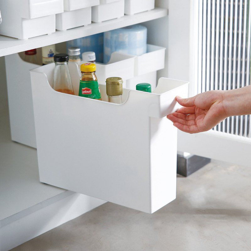 11CM面寬廚櫃隙縫多功能收納盒(附輪)-3入 - 設計館 日本霜山 SHIMOYAMA - 收納用品   Pinkoi