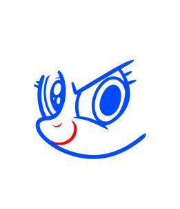 Как нарисовать пони Радугу карандашом поэтапно