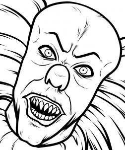 Как нарисовать клоуна из фильма
