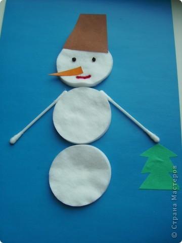 Мақта дискілерінен снеговикті қалай жасауға болады - ең жақсы жаңа жылдық қолөнер 19