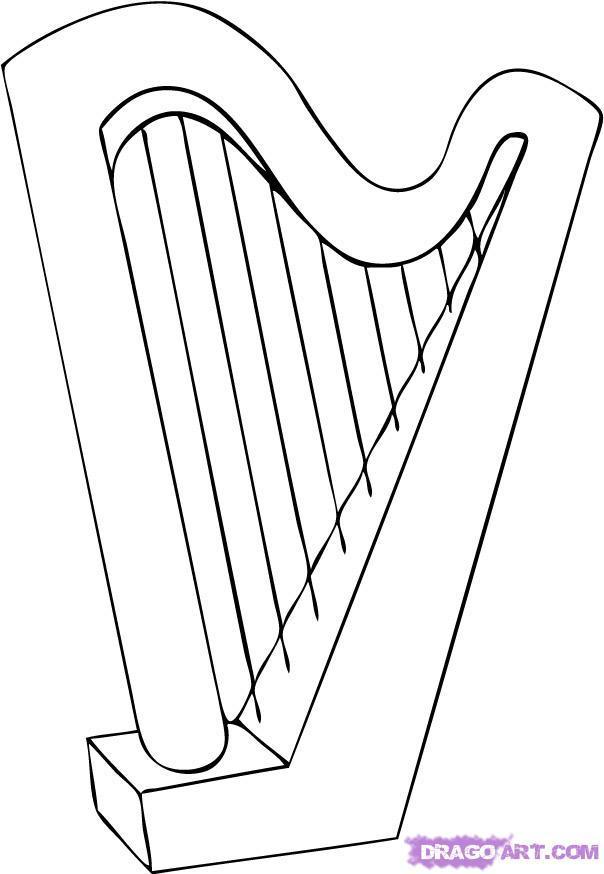 Как рисовать музыкальные инструменты карандашом?