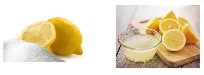 Mengganti asam lemon cuka