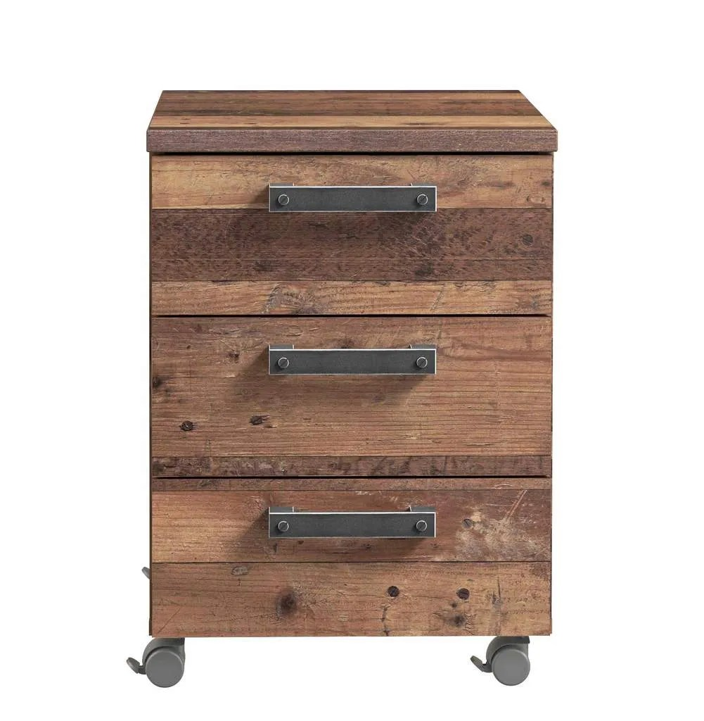 Https Www Trendmoebel24 De Kinderzimmer Kommoden Rollcontainer Clif 3 Schubladen Optik Old Wood Vintage Von Forte 99914109 72202