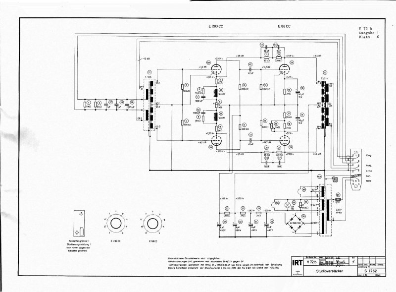 TAB/Maihak/Telefunken/Klangfilm Microphone/Line amplifier