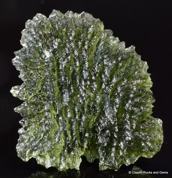 Moldavite Tektite Meteorite Damage Free Hedgehog Vltavin