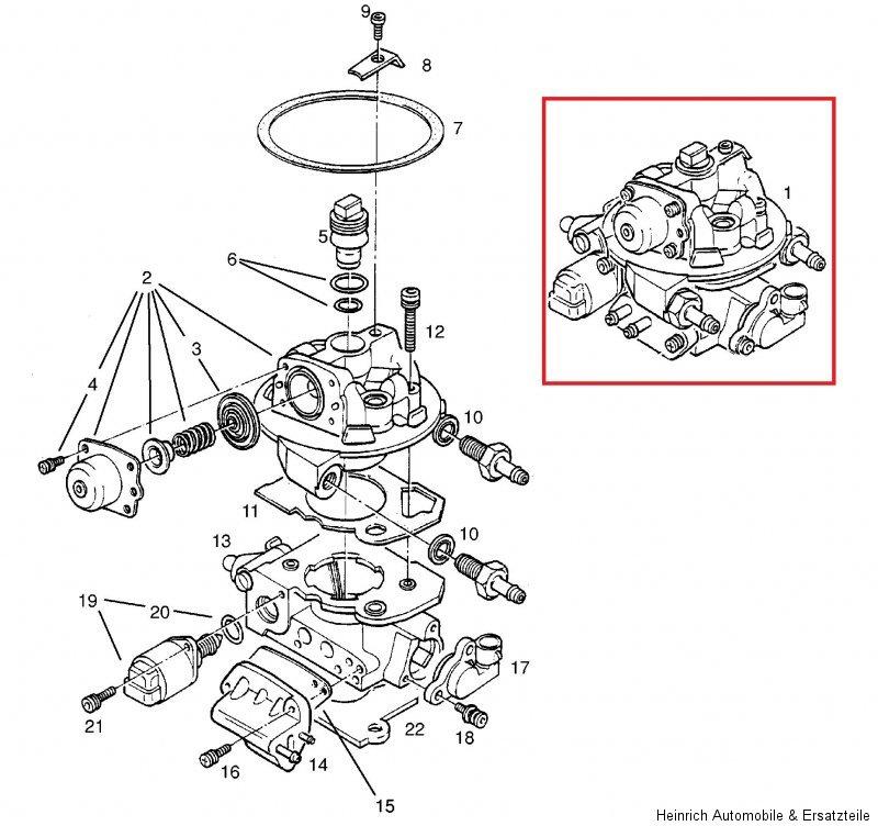 Opel Corsa B Einspritzanlage Monopoint Einspritzung