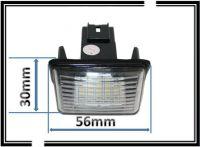 LED smd clairage de plaque d'IMMATRICULATION BLANC 6000K ...