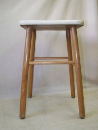 DDR Wood Stool, Vintage Retro Design Iconic Chair, Camping